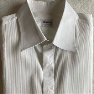 HP⭐️Armani Collezioni | White Tuxedo Dress Shirt